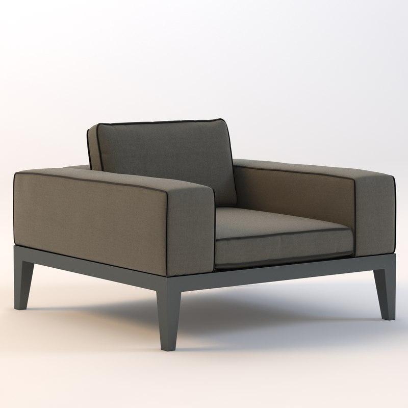 balmoral armchair chair 3d model