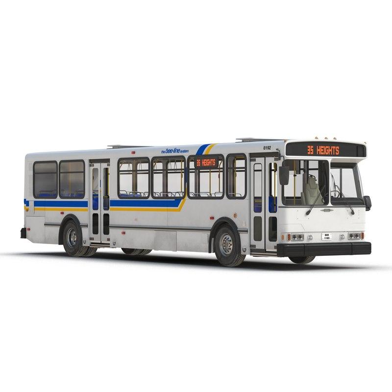 3d orion v transit bus model