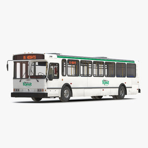 orion v transit bus 3d obj