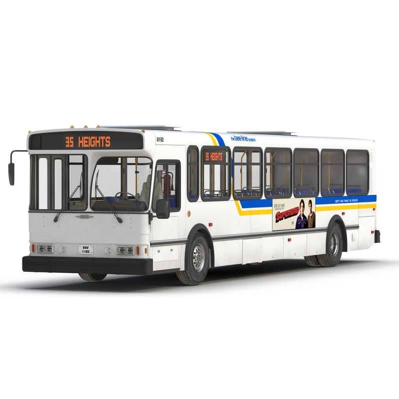 orion v transit bus 3d 3ds
