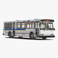 Orion V Transit Bus Liberty Lines Rigged 3D Model