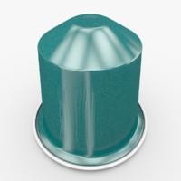 nespresso capsule dharkan 3d model