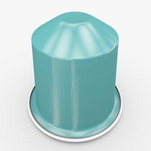 3d model nespresso capsule fortissio