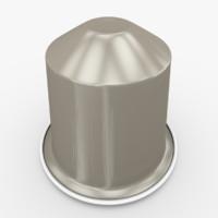 3d model nespresso capsule indriya