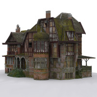 3d abandoned mansion model