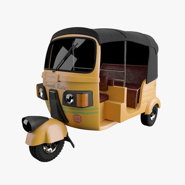 3d auto rickshaw autorickshaw model