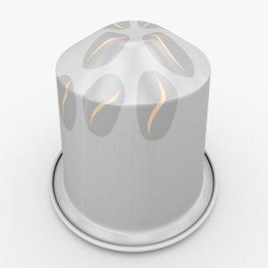 nespresso capsule maragogype 3d model
