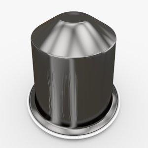 nespresso capsule ristretto 3d obj