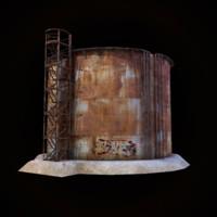 3d tank gaming environment model