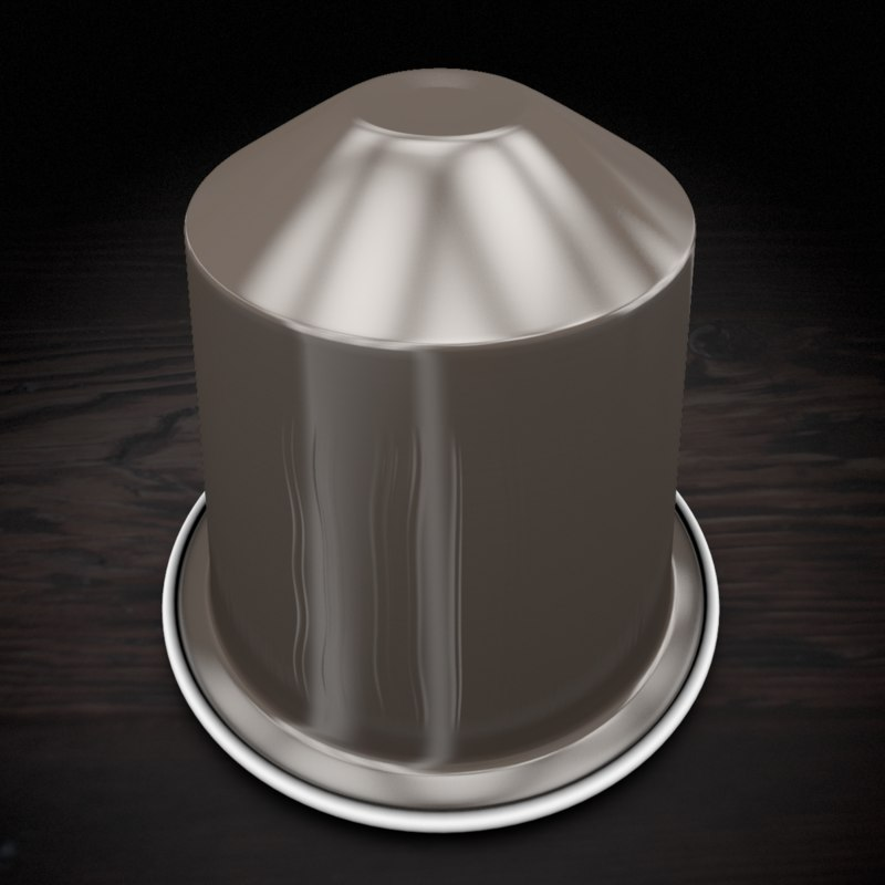 3d model nespresso capsule roma