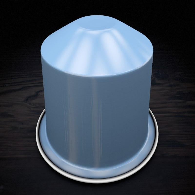 3d model nespresso capsule vivalto
