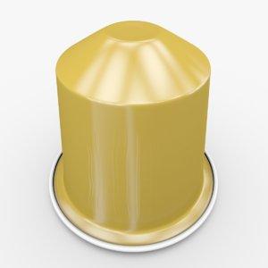 nespresso capsule volluto 3d model