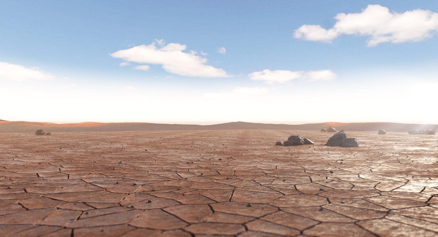 desert mountains rocks 3d max
