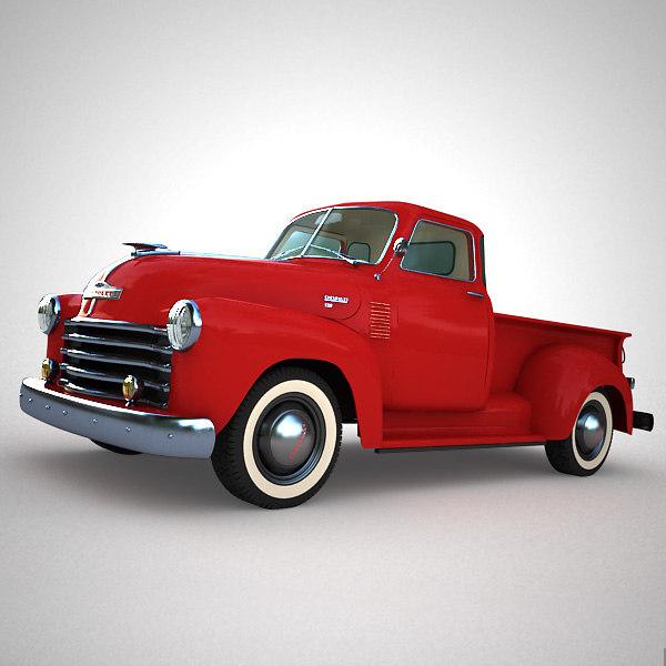 3d model chevrolet 3100 pickup