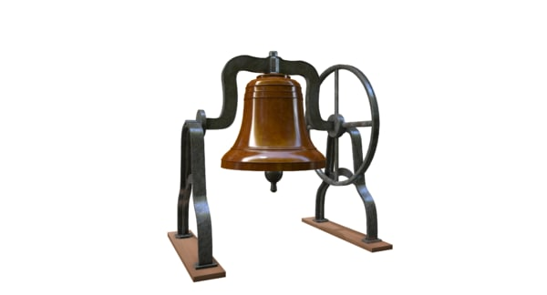 photorealistic bell 1 3d 3ds