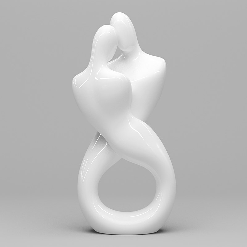 couple figurine 3d max