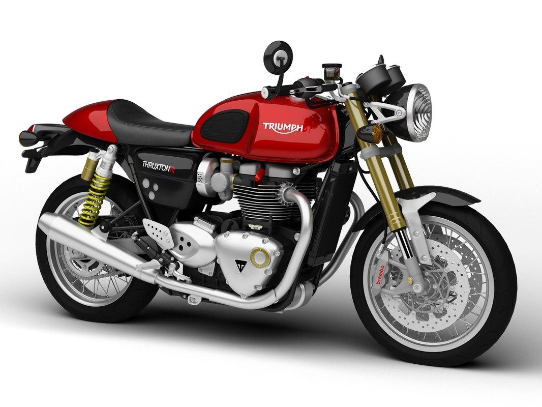 3d triumph thruxton r 2016 model