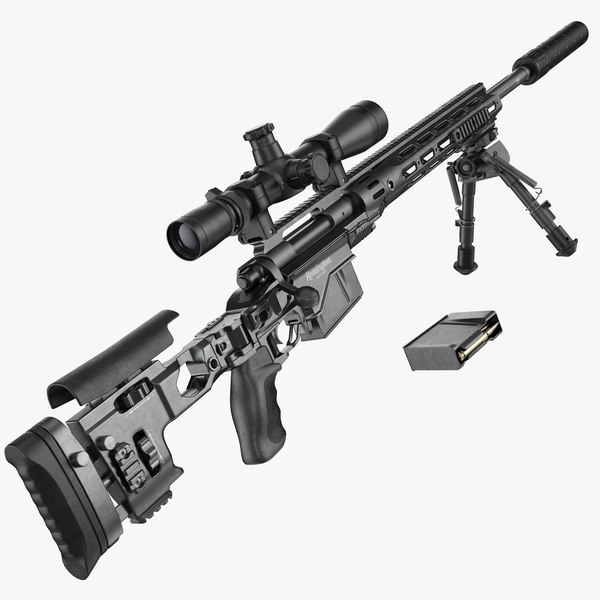 m2010 enhanced sniper rifle 3d model