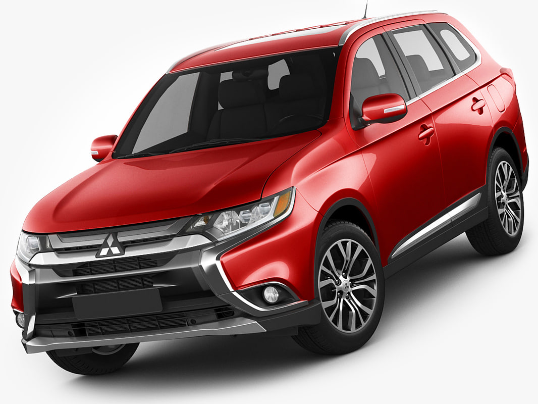 3d model mitsubishi outlander 2016