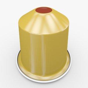 3d model nespresso capsule volluto decaffeinato