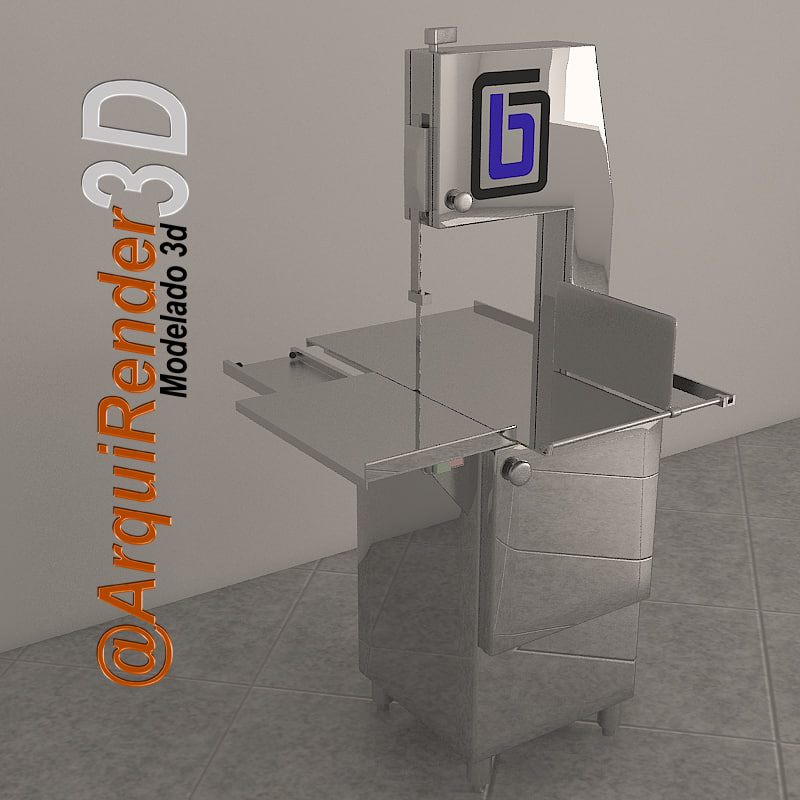 saw meat cutting commercial 3d model