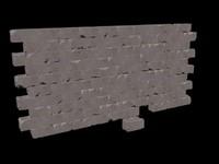 block wall 3d x