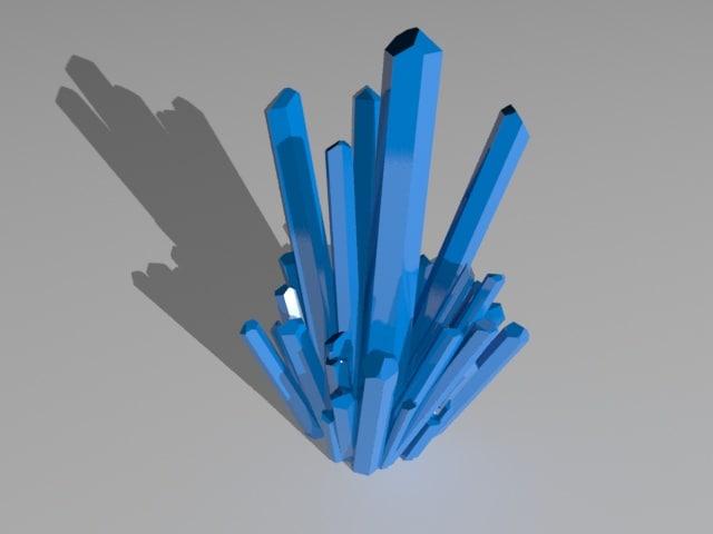 3d model large crystal