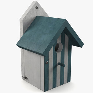 3d house birdhouse bird