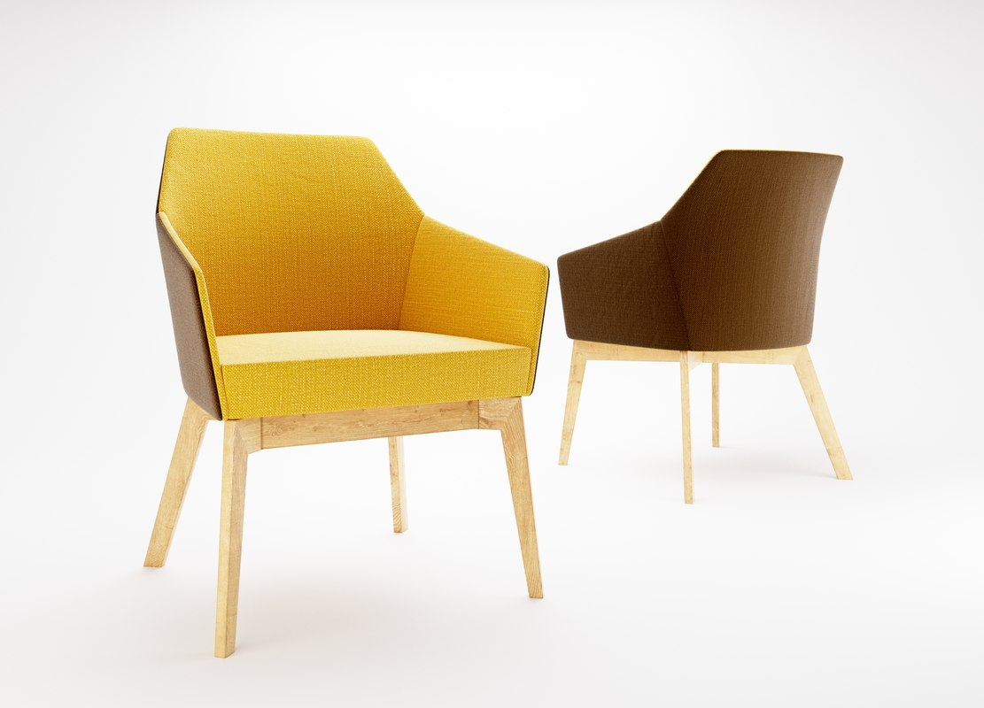 3d model sedia trafic chair