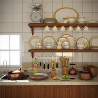 kitchen ware 3d model