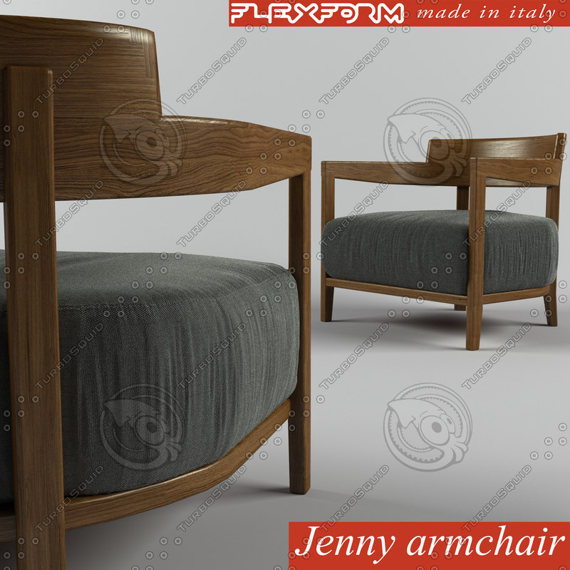 jenny armchair 3d model