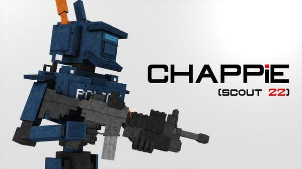 chappie minecraft c4d