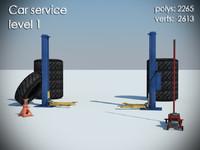 3d car service level 1 model