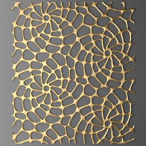 3d model panel lattice grille