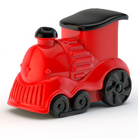 toy locomotive 3d 3ds