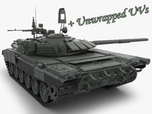 3ds t 72 main battle tank