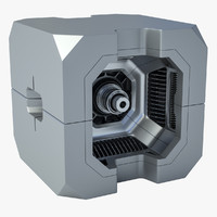 3d sci fi box model
