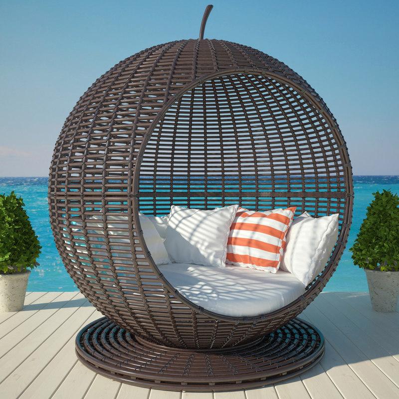 3d max garden apple bed