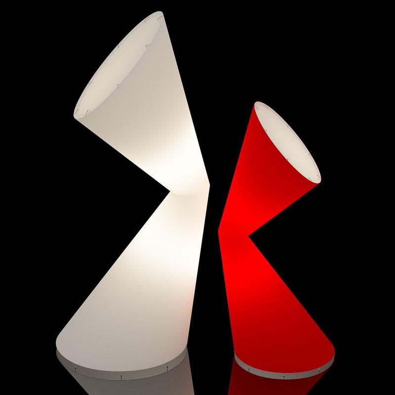 3d la lamp lights model