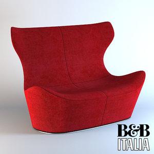 3d model sofa love papilio