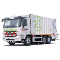 3d mercedes actros garbage truck