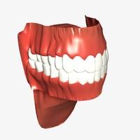 3d model mouth lightwave
