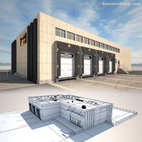 Cargo Building TIR Low Poly