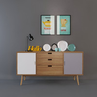 sideboard decor 3d max
