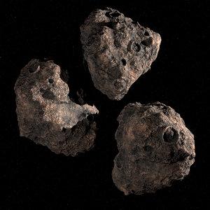 3d asteroids res details