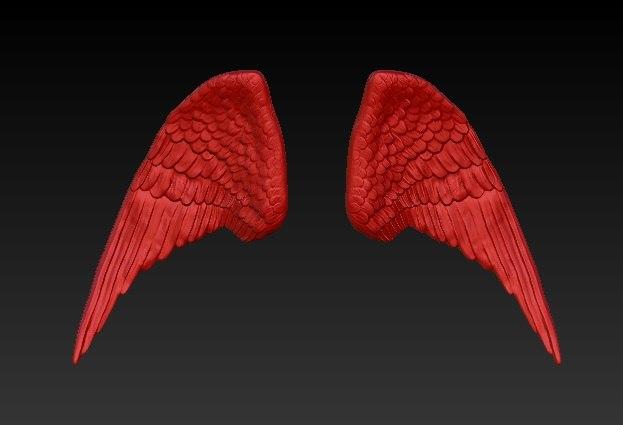 3d model animal wings