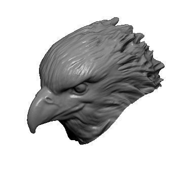 eagle head obj
