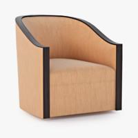 salon chair randolph 3d obj