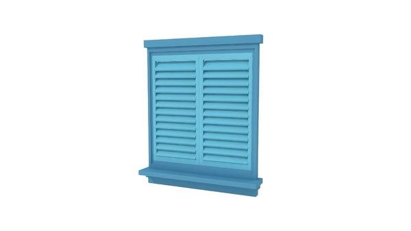 3d model window shutters