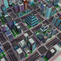 Cartoon City Modern Pack 1 - Toon Cityscape